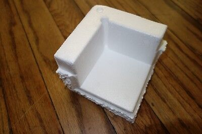 Foam Corner Block Protectors For Shipping Polystyrene 3 X 3 X 1 Lot Of 8