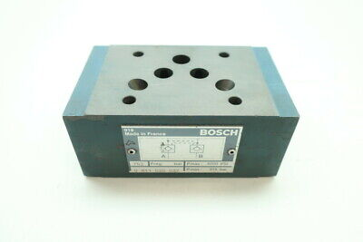 Bosch 0 811 020 027 Hydraulic Valve Manifold