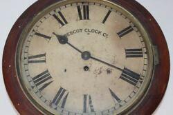 ANTIQUE VINTAGE ENGLISH FUSEE GALLERY PUB RAILWAY ROUND PRESCOT CLOCK