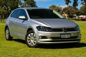 2020 Volkswagen Polo AW MY20 70TSI Trendline Billet Silver 5 Speed Manual Hatchback Burswood Victoria Park Area Preview