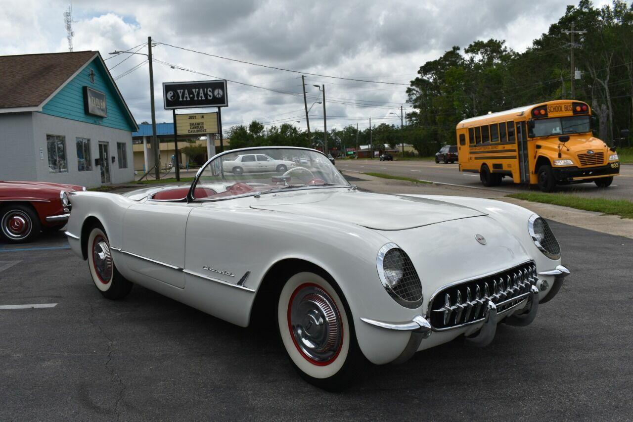 1954 White Chevrolet Corvette   | C1 Corvette Photo 7