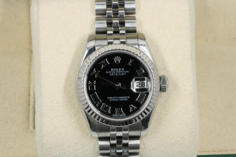 Rolex Lady-datejust 179174 Black Roman Numeral Dial 2007 Model