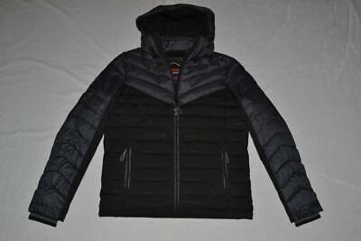 AUTHENTIC SUPERDRY MENS TWEED MIX FUJI JACKET JET BLACK  ALL SIZES BRAND NEW