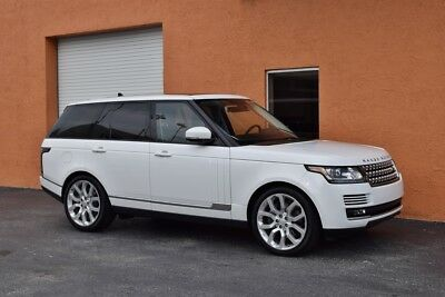 2016 Land Rover Range Rover Hse 1 Owner 4X4  V6 Supercharged Factory Warranty  Loaded  Well Maintained