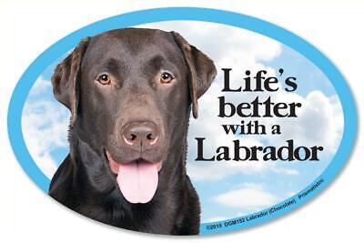 Life's Better With A Labrador Retriever Dog Car Fridge Plastic Magnet Life Labrador Retriever