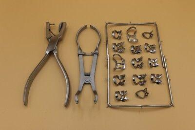 Starter Rubber Dam Kit Set 18 Pieces Dental Filling Instruments Set