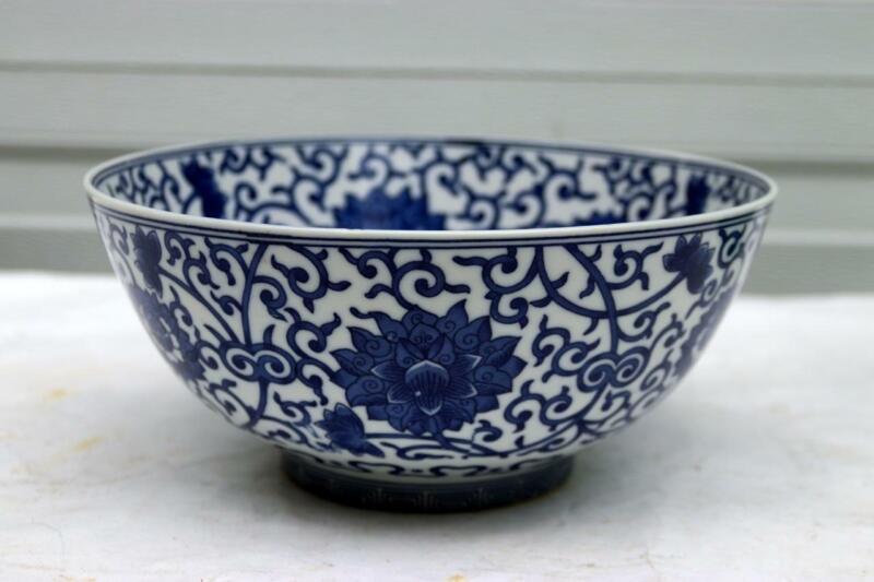 Blue White Chinese Porcelain Ming mark Bowl