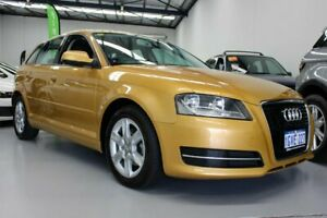 2012 Audi A3 8P MY13 Sportback 1.6 TDI Attraction Gold 7 Speed Automatic Hatchback