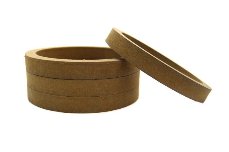 "2 Pair Wood MDF Speaker Spacer Rings 6.5"" Fiberglass Door Kick Pods 6 1/2 Inch"