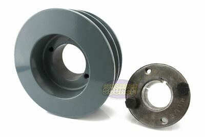 Cast Iron 4.5 2 Groove Dual Belt B Section 5l Pulley W 1-18 Sheave Bushing