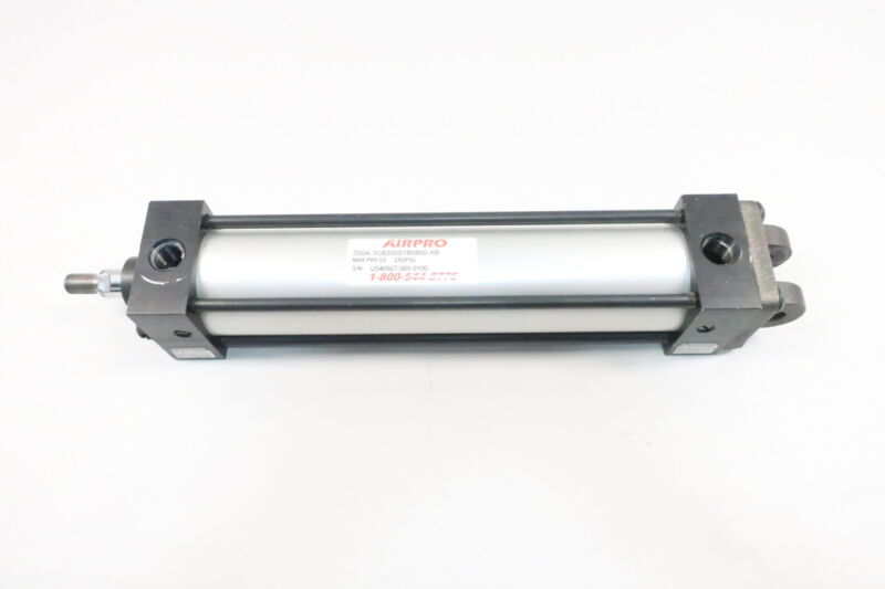 Airpro 250A-1CB200S1B0800-AB 250psi Double Acting Pneumatic Cylinder