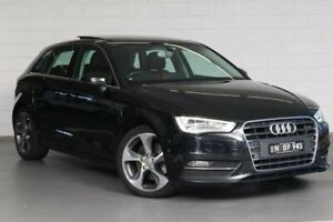 2013 Audi A3 8V MY14 Ambition S Tronic Black 7 Speed Sports Automatic Dual Clutch Sedan