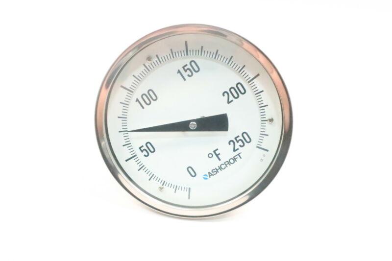 Ashcroft Bimetal Thermometer 5in 1-1/2in 0-250f 1/2in Npt