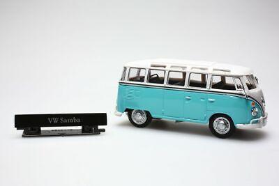 Miniature VW T1 samba bleu 1/43