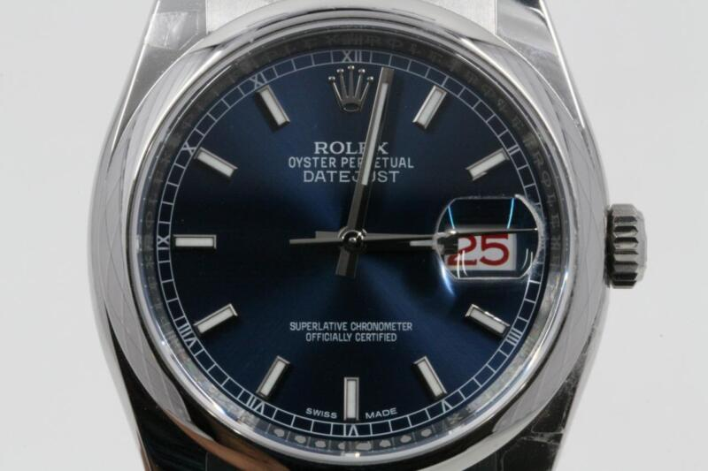 Rolex Datejust 116200 Blue Index Dial 2017 Model With Box & Booklets