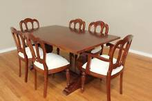Dining Set – Set of 6 - French Style Furniture - Solid Teak Burleigh Heads Gold Coast South Preview