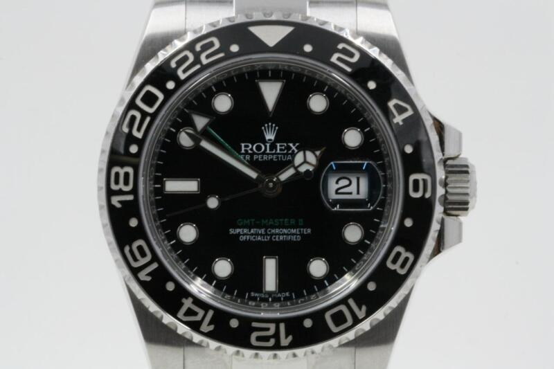 Rolex Gmt-master Ii 116710 Black Index Dial Black Ceramic Bezel 2017 Model