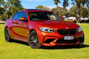 2018 BMW M2 F87 LCI Competition M-DCT Sunset Orange/leathe 7 Speed Sports Automatic Dual Clutch Burswood Victoria Park Area Preview