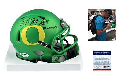 MARCUS MARIOTA Signed Mini Helmet - Oregon Ducks Autographed w/ PSA/DNA - Green