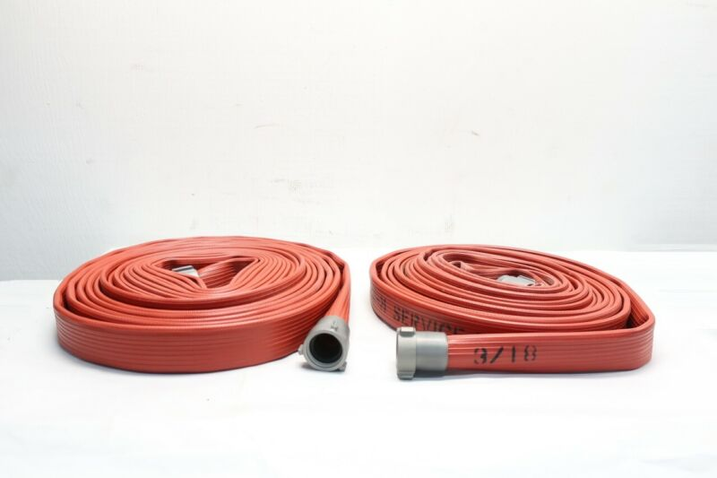 Box Of 2 Dixon H515R50RAF Red Nitrile Coveredfire Hose 50ft X 1-1/2in