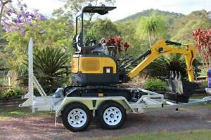 Carter CT16 Mini Excavator Diesel Yanmar Powered with Trailer Molendinar Gold Coast City Preview