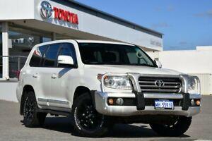2012 Toyota Landcruiser VDJ200R MY12 Sahara Crystal Pearl 6 Speed Sports Automatic Wagon