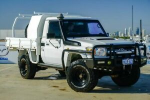 2012 Toyota Landcruiser VDJ79R MY10 GXL White 5 Speed Manual Cab Chassis