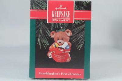 Hallmark '1992 Dated Granddaughter's First Christmas' Ornament New In Box ()