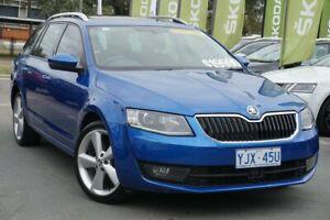 2014 Skoda Octavia NE MY14 Elegance DSG 132TSI Blue 7 Speed Sports Automatic Dual Clutch Wagon