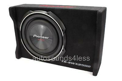 "New Pioneer TS-SWX2502 1200 Watts 10"" Loaded Shallow Truck Subwoofer Enclosure"