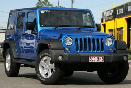 2016 Jeep Wrangler JK MY2016 Unlimited Sport Hydro Blue/matching 5 Speed Automatic Softtop Rocklea Brisbane South West Preview