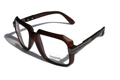 Matte Brown Clear Lens Hipster Square Sun Glasses GunMetal (Brown Hipster Glasses)