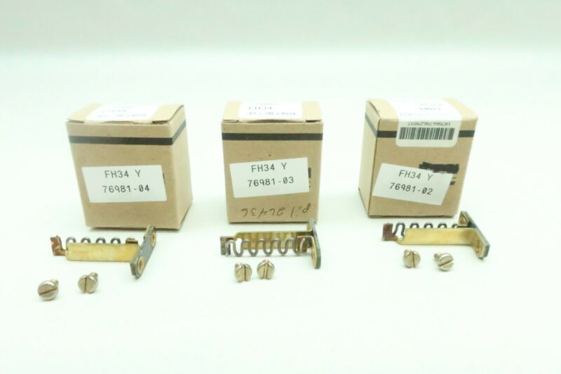 3x Cutler Hammer FH34 Overload Relay Heater Element