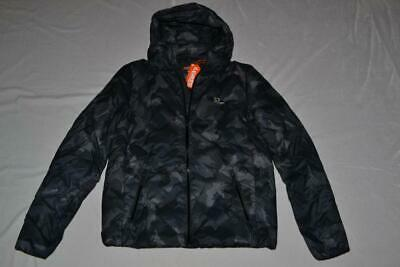 AUTHENTIC SUPERDRY MENS ECHO QUILT PUFFER JACKET NAVY CAMO  ALL SIZES BRAND NEW
