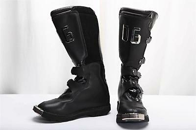 DOLCE & GABBANA WOMENS Black Leather SKI - SNOW WINTER Steel Toe Boot Shoe 7-37
