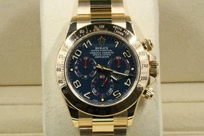 Rolex Daytona 116528 Blue Arabic Dial 2016 Model With Papers