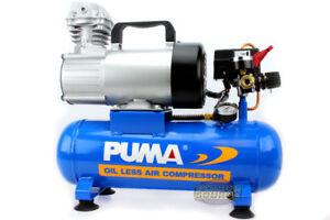 0f514406601e Puma 12 Volt 1.5 Gallon Oil-Less Air Compressor Free Shipping Oiless 12V