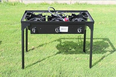 CONCORD Triple Burner Outdoor Stand Stove Cooker w/ Folded Flat Burner Heads