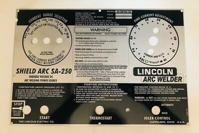 Lincoln Arc Welders Shield Arc Sa-250 Part L-6336 Aluminum Control Plate