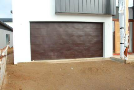Steel-Line Decowood Flatline Double Garage Door - New Condition