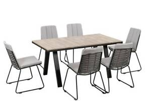 OUTDOOR LANCASTER 7 PIECE ARMLESS SETTING COVE