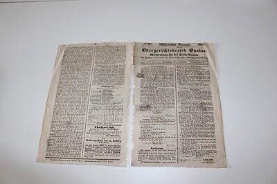 antike Zeitung, Allgemeiner Anzeiger Goslar 1857  #H306