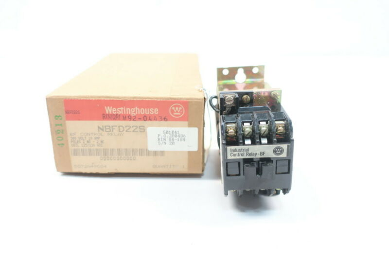 Westinghouse NBFD22S Control Relay 125/130v-ac
