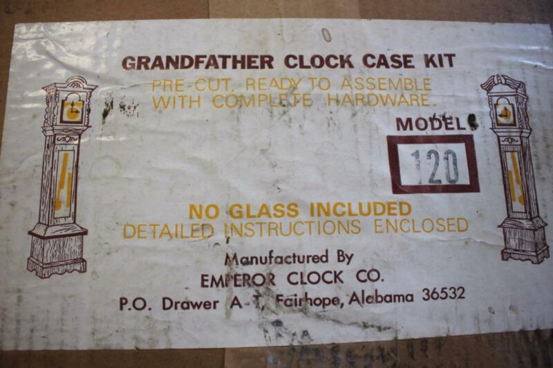 Emperor Walnut Grandfather Clock Case Kit Model #120 ready to assemble NEW