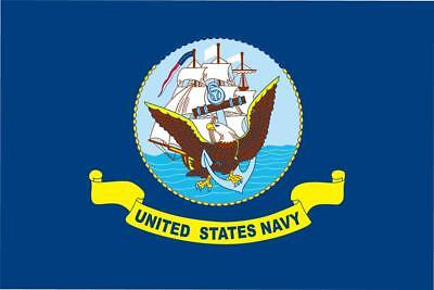 US NAVY WITH SHIP  3X5 FLAG FL055 banner new w grommets united states military
