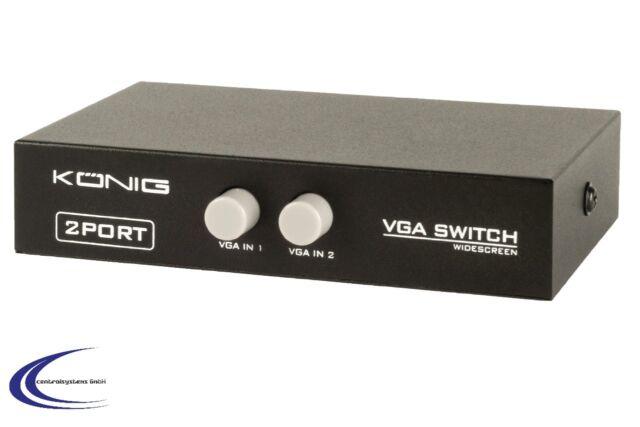 VGA Umschalter 2-fach  in schwarz von König - Bildschirm Switch Umschalter