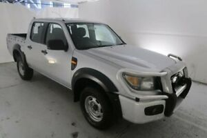 2009 Ford Ranger PJ XL Crew Cab Silver 5 Speed Manual Utility Hamilton North Newcastle Area Preview