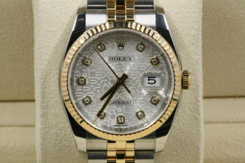 Rolex Datejust 116233 Silver Anniversary Diamond Dial Model With Papers