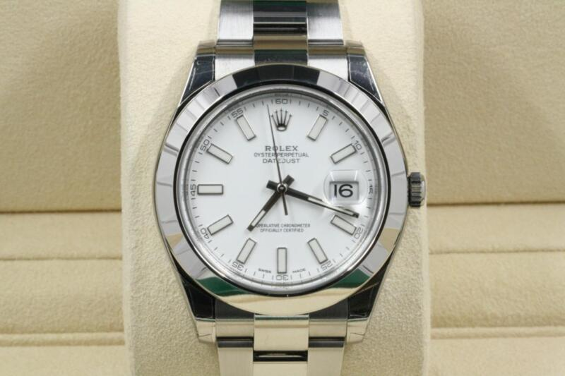 Rolex Datejust Ii Model 116300 White Index Dial