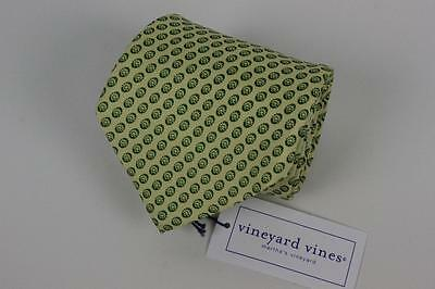 Nwt Vineyard Vines Tie Quest Diagnostics  Hand Made In Usa  Yellow W Green